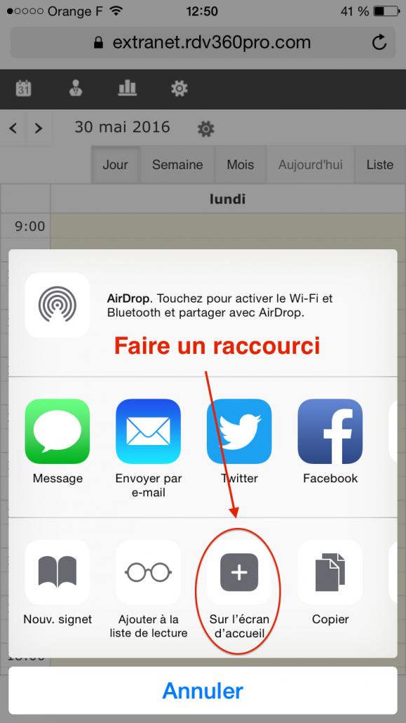 rdv360_iphone_raccourci